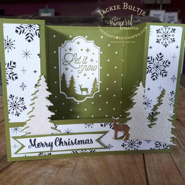 Carols of Christmas bridge fold card.