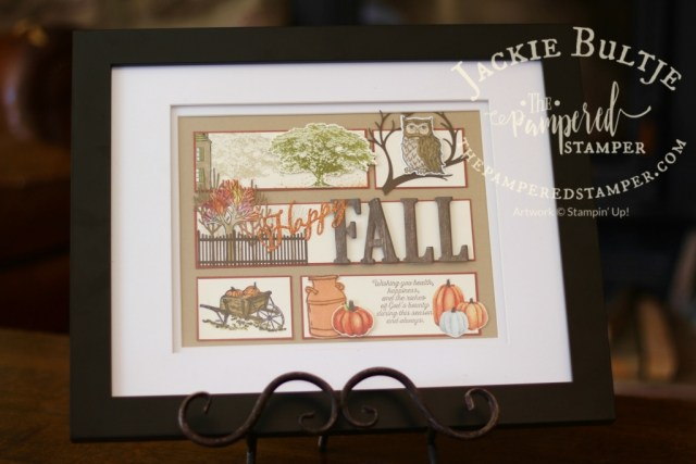 Lots of stamp sets and framelits represented in this fall sampler! All products Stampin'Up!