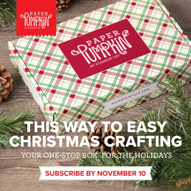 Paper Pumpkin in November is going to be Christmas cards! Subscribe by Nov 11 to get yours.