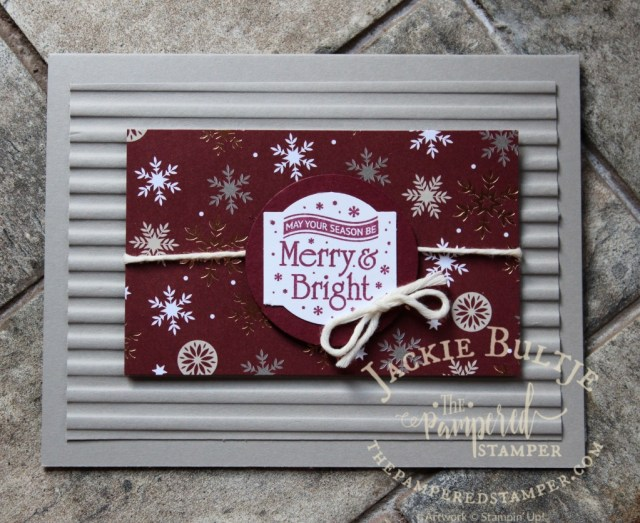 Corrugated embossing folder pairs with Christmas Traditions Punch Box
