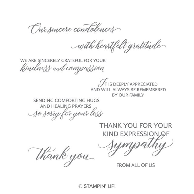 Kindness and Compassion is a beautiful and elegant stamp set that will serve your needs for sympathy cards
