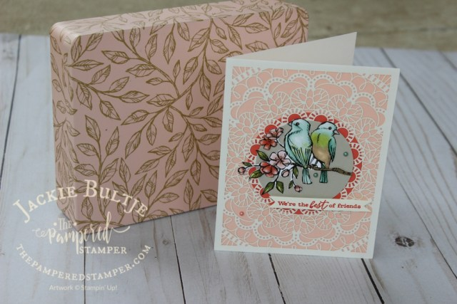 Bird Ballad laser-cut cards and tin, a lovely container for the Bird Ballad suite of pretty things.