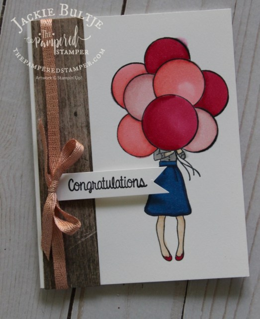 This Hand Delivered card really is for all occasions that require congratulations. Colour those balloons with our beautiful Blends and they will almost pop off the page!