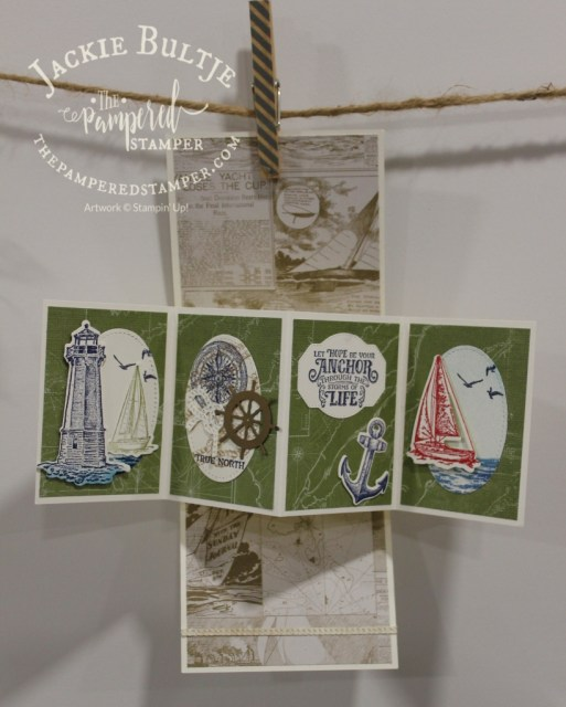 Twisted Pop-Up card with Sailing Home in the inside.