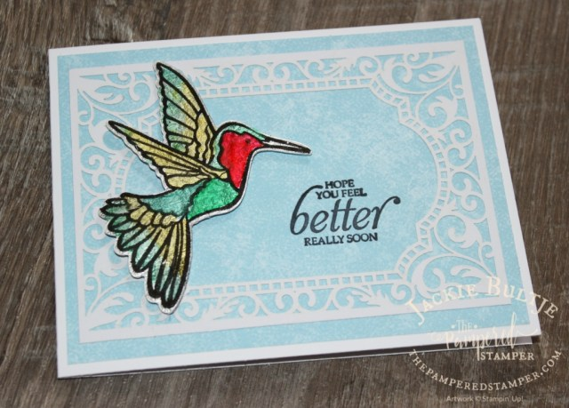 Stained Glass Hummingbird and Beautifully Detailed Laser-Cut Specialty Paper