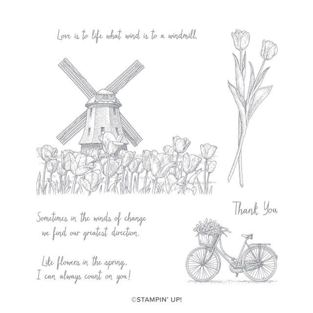 Winds of Change is a new Stampin'Up! set that is great for colouring and or embossing.