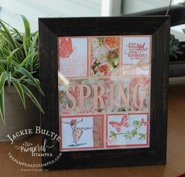 This spring sampler showcases our pretty new stamp called Butterfly Wishes as well as Beautiful You and Enjoy LIfe.