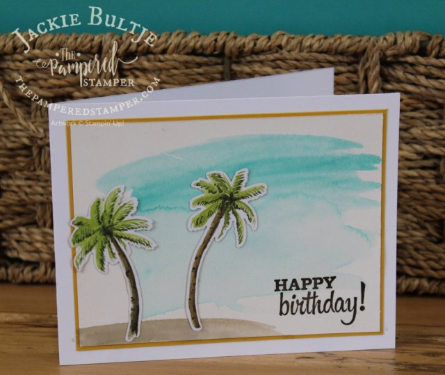 Shimmery white cardstock, aqua painter and bermuda bay ink for a lovely watercolour wash background.