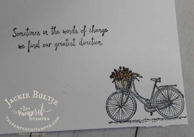 Inside of the Winds of Change card stamped in Memento Black ink and coloured with Blends
