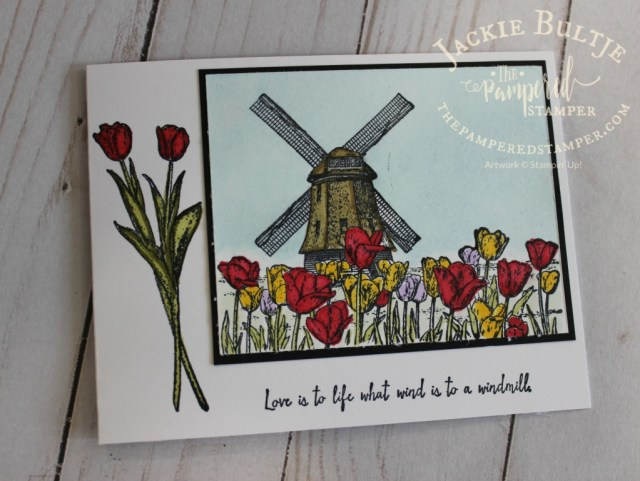 I used Stampin'Up! Blends to colour this Winds of Change card.