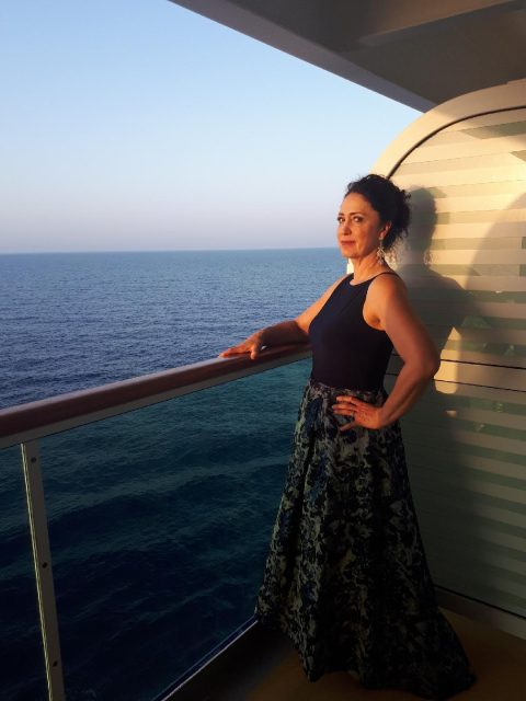 This is me on one of the formal nights on the Stampin'Up incentive trip to the Greek Isles aboard the Royal Caribbean Jewel of the Seas