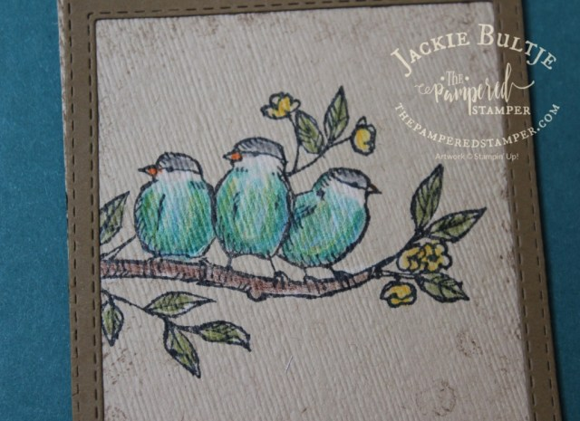 Free as a Bird coloured with watercolour pencils on a crumb cake base.