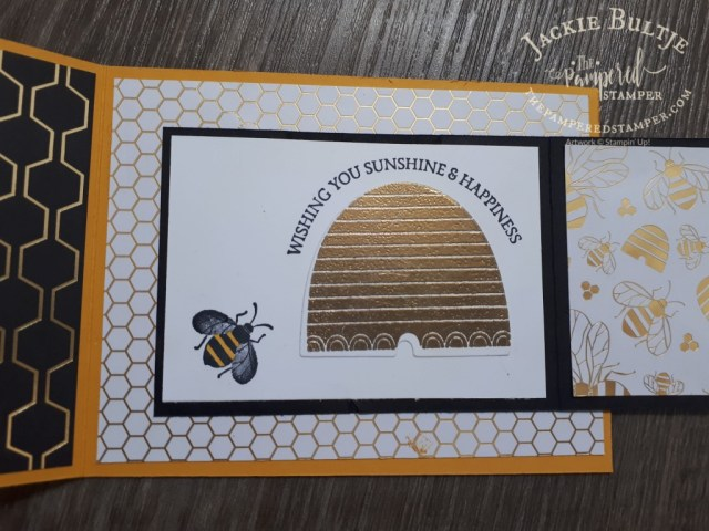 Honey Bee Joy-Fold card open