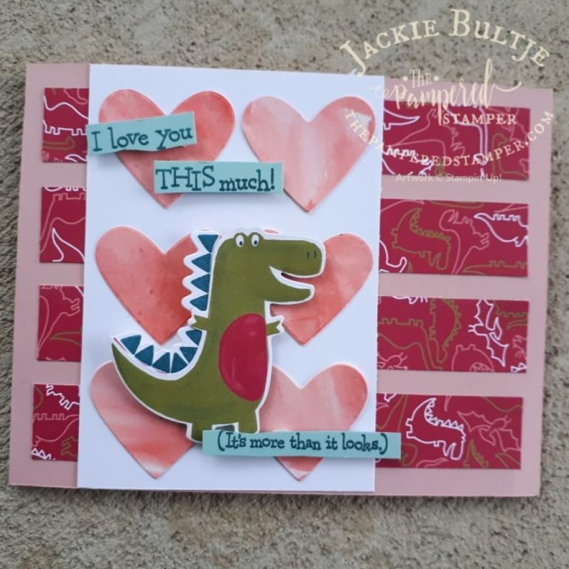 Stamping with littles card