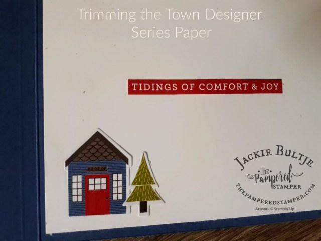 Trimming the Town paper for inside card