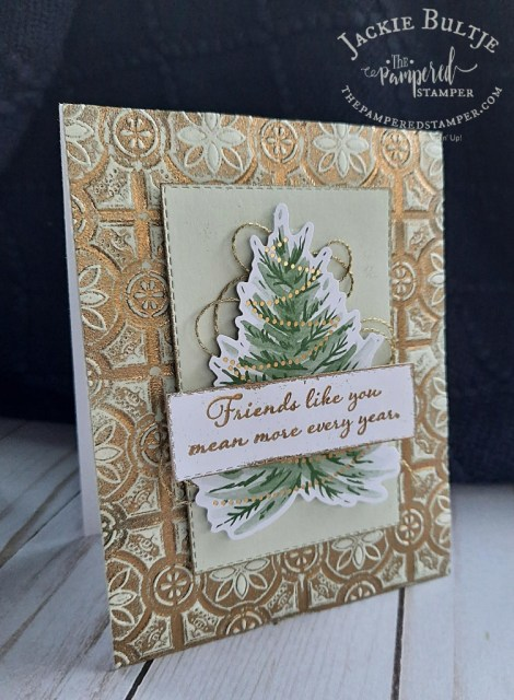 Gold embossed card from Tag Buffet elements