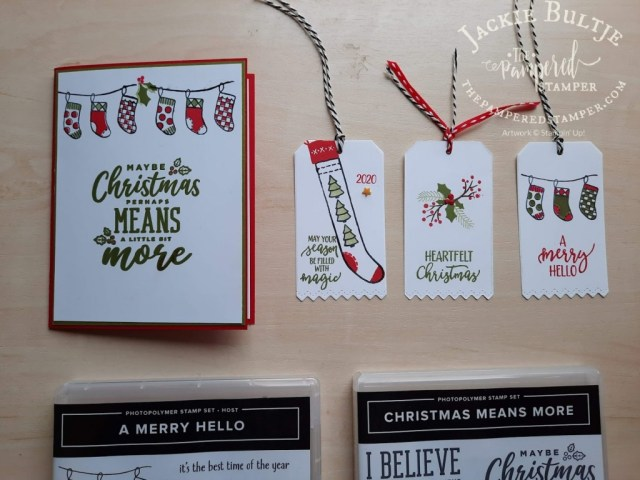 A Merry Hello host stamp set
