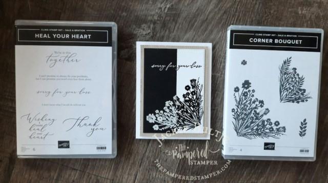 Saleabration stamps with Split Negative card