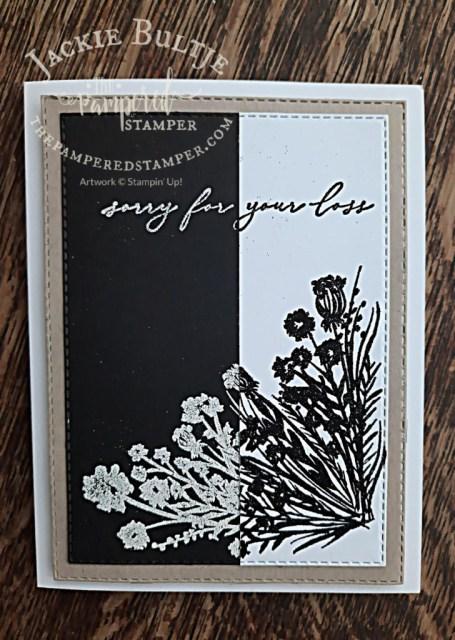 Corner Bouquet Split Negative card