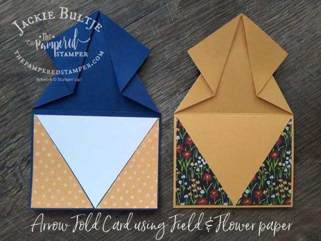 Arrow Fold card inside view