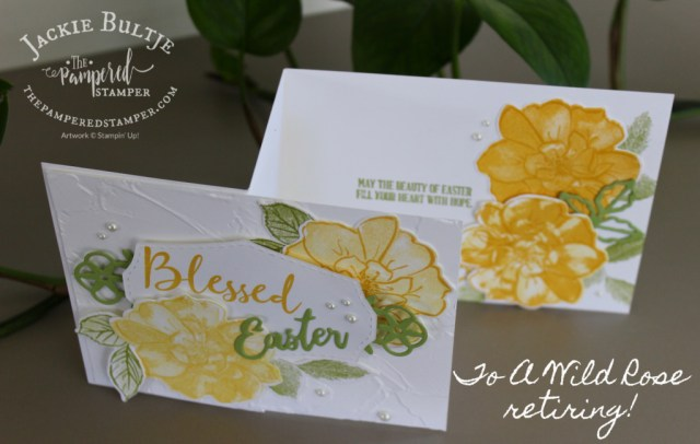 To A Wild Rose Blessed Easter card