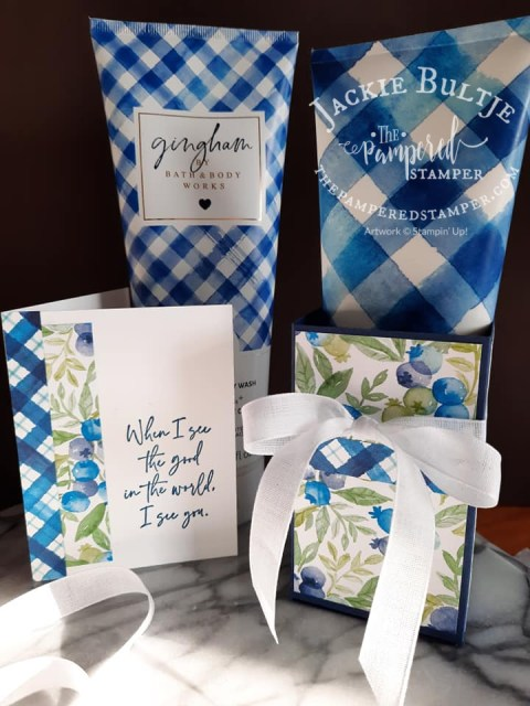 Gingham Berry Blessings projects