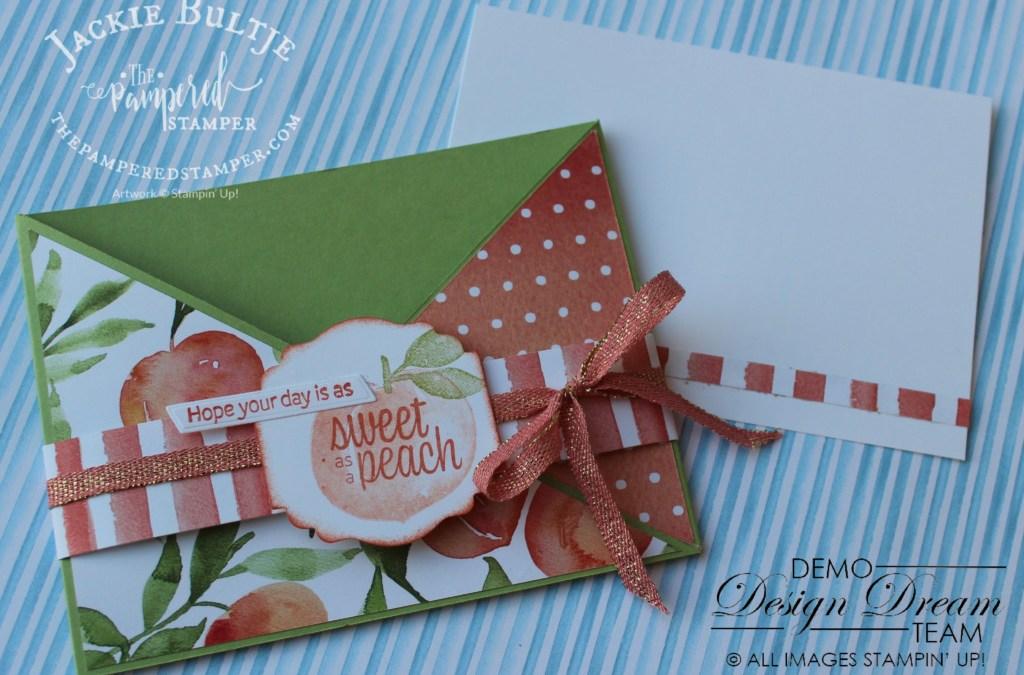 Criss-Cross Card with Sweet as a Peach