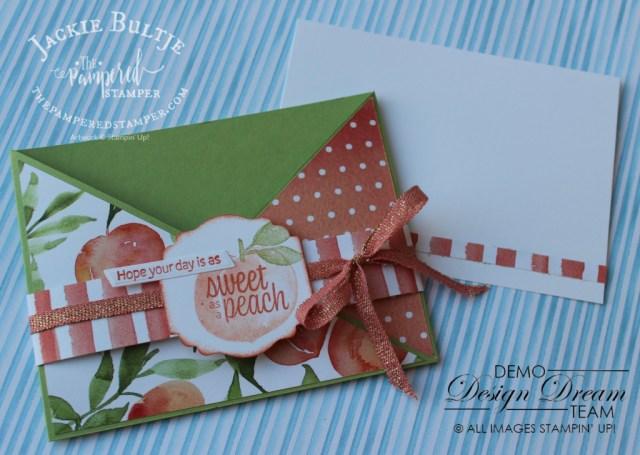 Sweet as a Peach Criss-Cross Card