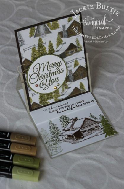 Peaceful Cabin easel fold card