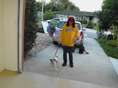 I return to the old house that I never expected to see again. My former dog and his new mom come to see me. (he's a wonderful dog and I am forever thankful to her for taking him, old and blind and diabetic as he is)