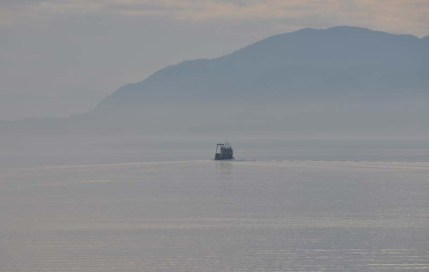 Another fishing boat in the distance.