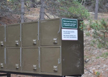 Bear proof storage lockers for your food.