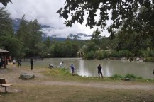 We came across a lot of people fishing in this little lake.