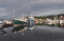 It's a beautiful calm morning at the marina.