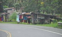 Clothes for sale - the type of dresses worn by the indigenous people of this area.