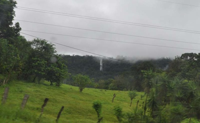 As we get closer to home, we see the huge waterfall in the distance.