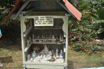 There were quite a few of these doll house sorts of things on various themes. This sign says - everyone is special. We are born capable. The trick is to find out of what we are capable.
