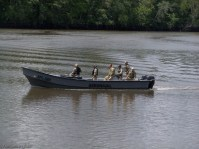 Just as I was about to leave, the military patrol showed up. They work very hard to patrol the waters and keep drugs from coming in to the country.