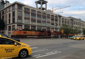 As we headed back to the car, a train came through town and the traffic had to wait.