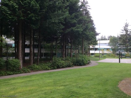 We walked around her campus a bit which is also very attractive with lots of trees and green space.
