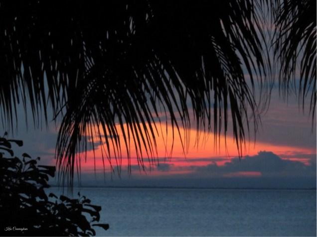 Sunset over the lake on Ometepe Island, Nicaragua