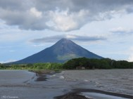 The clouds over the volcano are constantly changing