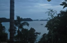 The islands of Boca Chica, Panama is the fading evening light.