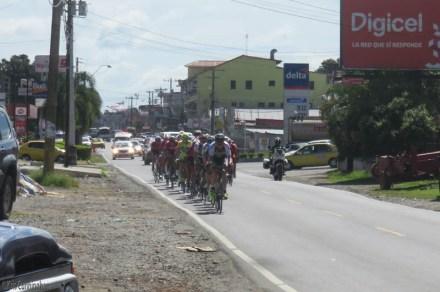 The bikers head towards us!
