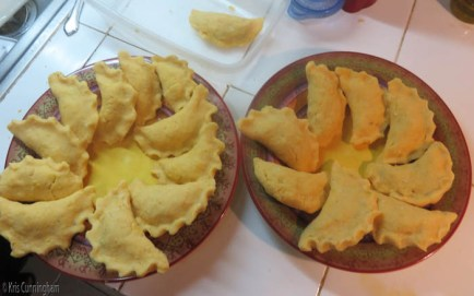 Empanadas ready for frying