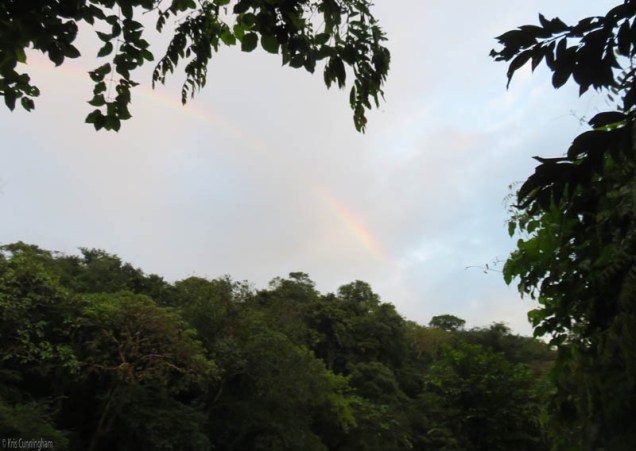 Then, Elif noticed this beautiful rainbow overhead.