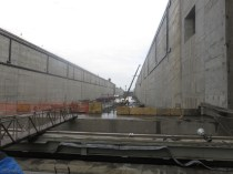 This is looking south to the other end of these locks.