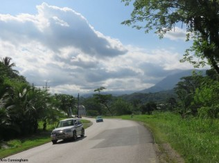 The scenery riding in to Costa Rica is beautiful
