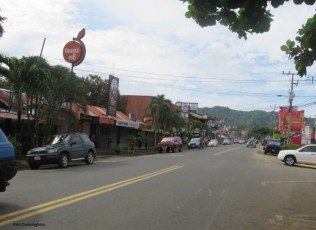 the Main Street in town
