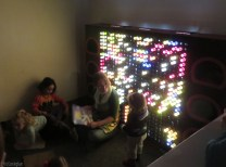 One day there was story time in front of the cool light board.